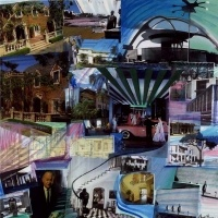 Wheels Down at LAX and View the Elegance and Style of Paul R Williams, Architect 2010 photo montage 36 x 36 inches